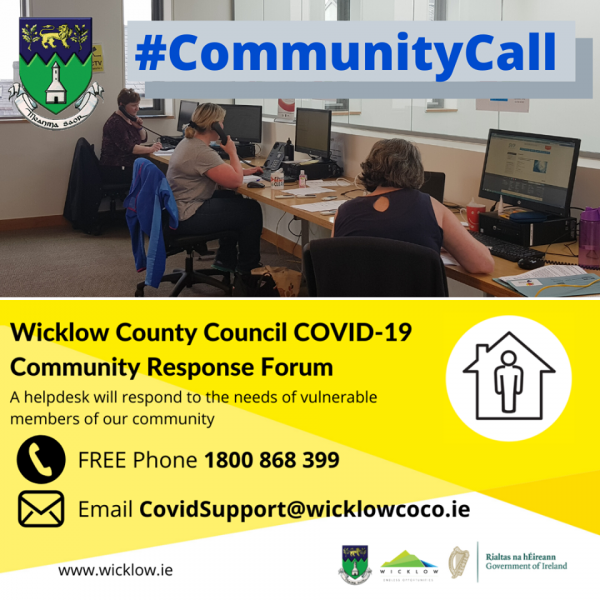 Wicklow Community Call poster