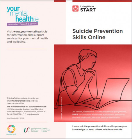 Suicide Prevention Skills course poster
