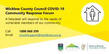 Wicklow Co. Council COVID-19 banner