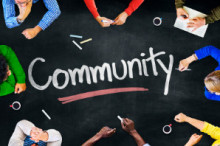 Image with the word Community